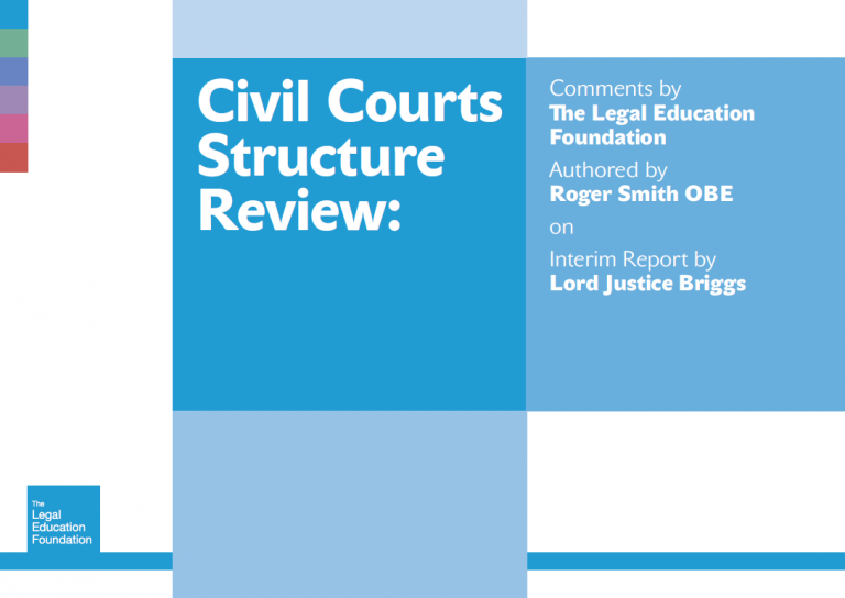 Response to Lord justice Briggs' interim report